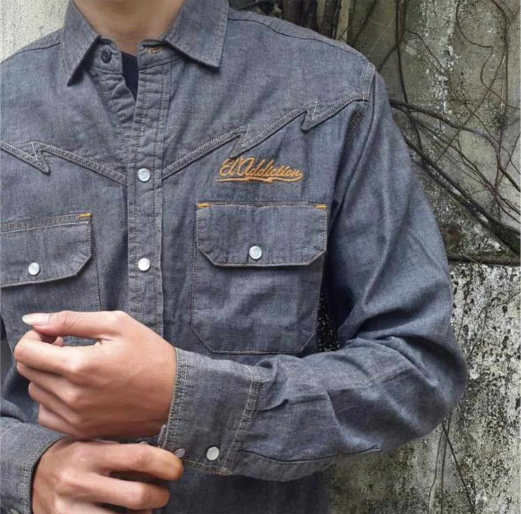 Bahan Kain Denim Chambray